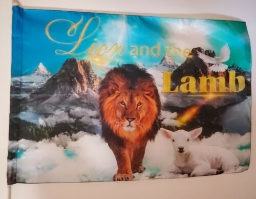 Sale-Lion & the Lamb 100% Silk praise and worship dance flag w/ Free Shipping