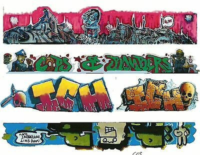 G SCALE GRAFFITI DECALS G03 FROM REAL GRAFFITI PHOTOS ICH ICHABOD
