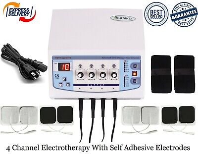 Professional Electrotherapy Physical Therapy Machine 4 Channel Pain Relief Unit