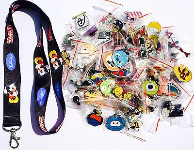 Disney World Pin Trading Lot Lanyard Starter Set Classic Mickey Mouse w/ 10 Pins