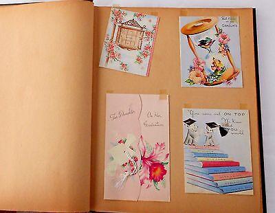 Graduation Name Cards - 1945 Graduation scrapbook cards name cards B&W photos NH