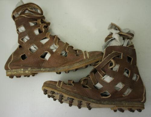 Roman Shoes Leather Caligae Gladiator Roman Jesus SCA JOHN CARTER Movie Prop 7