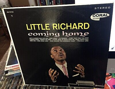 Little Richard LP Promo in Stereo Coral Coming Home w/ Sticker