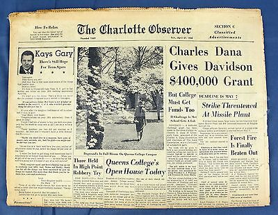 The Charlotte Observer April 27  1958 Newspaper Classifieds   Sports Yogi Berra