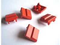 Druckknopf BEIGE Kappe für ITT Schadow Cannon Drucktaster Druckschalter 15 St
