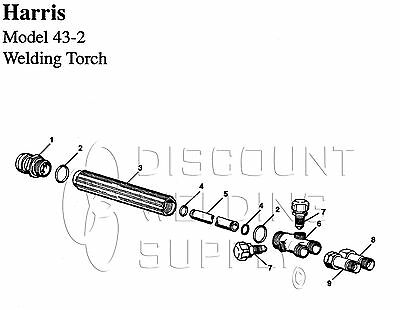 Repair Kit - Harris Model 43-2 Welding Torch Handle Orings Mixer Ah43-2rk