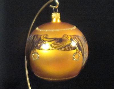 Christopher Radko GOLDEN ISIS Egiptian Goddess Ball Christmas ornament, #960780