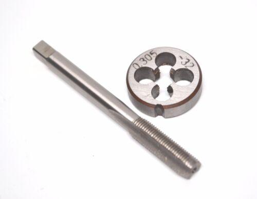 0.305-32 (.305x32 - 8V1-32) HSS Tap & Die Set - Schrader Tire Valve Stem Repair
