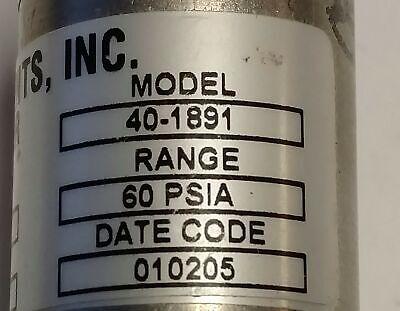 Honeywell / Mercury Instruments 40-1891 Pressure Transducer