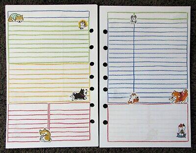 Notes Undated Refill For A5 7-ring Planner Organizer Insert Dogcat