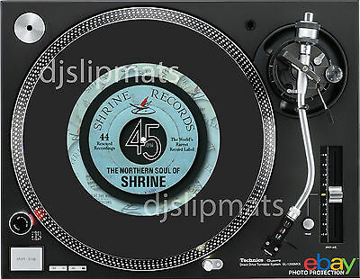 "Ltd Edition SHRINE Records 7"" inch Pro DJ SLIPMAT Northern Soul platter mat RARE"