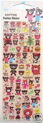 Love Cute Happy Animal Bear Chick 3D Vinyl Sticker Decor Scrapbook Kid Toy JAPAN