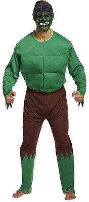 Men's Green Giant Costume Superhero Novelty Fun Hulk Costume Fancy Dress