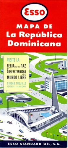 1956 Esso Road Map: Dominican Republic NOS