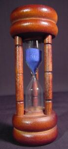 3 Minute Hourglass Egg Timer Wood New Blue Sand