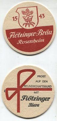 Alter Bierdeckel - Flötzinger-Bräu - Rosenheim