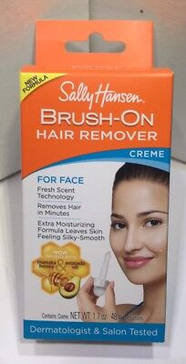SALLY HANSEN Brush-On Gentle Hair Remover Creme For Face 1.7 Oz. Fresh Scent
