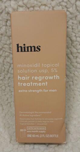 Hims Minoxidil Topical Solution 5 Hair Regrowth Treatment For Men 2fl Oz 12/21 - $12.89