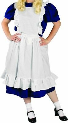 Apron Pinafore Raggedy Ann Doll Pioneer ALICE in Wonderland White Adult Costume (Raggedy Ann Doll Costume)