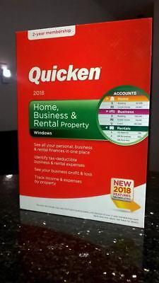 Intuit Quicken Home Business Rental Property Windows 2018 170148 2-year members