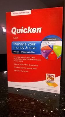 Intuit Quicken Deluxe 2018 2 Year Membership 170139 Windows Mac