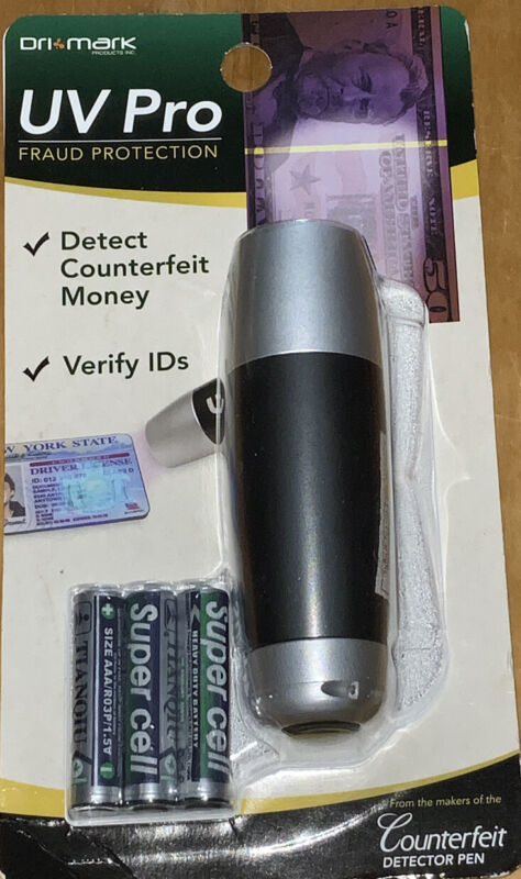 DRI MARK UV Pro Fraud Protection Light - Detect Counterfeit Money & ID