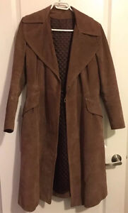 Women's Vintage Trench Coat 100% Leather