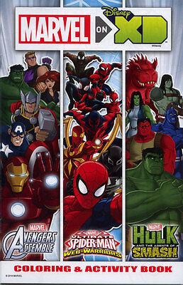 Avengers, Spiderman and Hulk coloring book RARE UNUSED DISNEY XD](Spiderman Coloring Book)