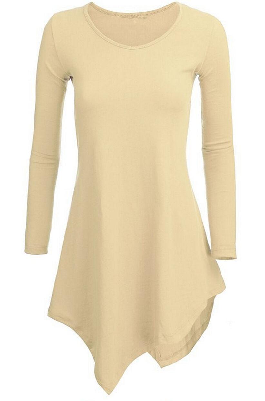 Maglia Donna Lunga Asimmetrica Autunno Woman Autumn Long Top T-shirt 561015