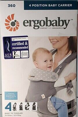 Ergo baby Four Position 360 Carrier Cool Air Mesh Carbon Gray