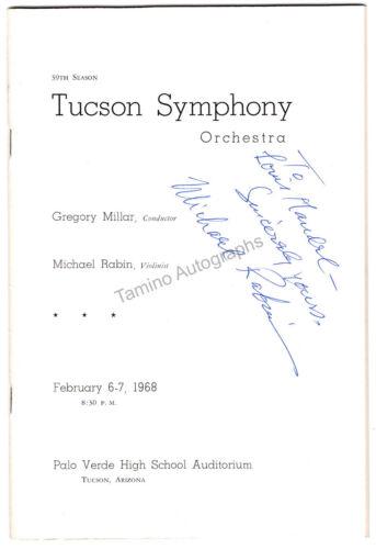 Rabin, Michael - Signed Program Tucson 1968