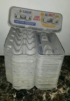 Lot Of 28 Egg Cartons Size Large 12 Count Cardboard Paper Pulp Farm Hobby Craft