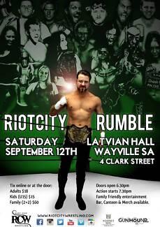 Riot City Rumble 2015 : Riot City Wrestling Wayville Unley Area Preview