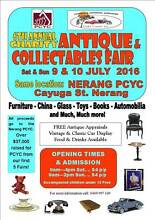 6th Annual NERANG PCYC Antique & Collectables Fair JULY 9 & 10 Nerang Gold Coast West Preview