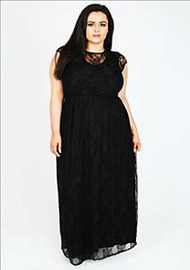 Plus Size Dark Navy Maxi Dress with Lace Overlay Browns Plains Logan Area Preview