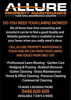 Allure Property Maintenance LAWN MOWING Wetherill Park Fairfield Area Preview