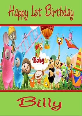 Personalised Baby TV Billy Bam Bam & Characters Birthday - Baby Tv Characters