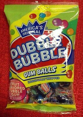 (America's Original Double Dubble Bubble GUM BALLS Individually Wrap Fruit Flavor)
