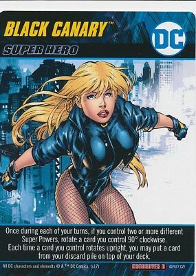 BLACK CANARY DC Comics Deck Building Game Oversized card BIRDS OF PREY