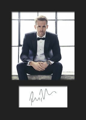 RYAN REYNOLDS #5 A5 Signed Mounted Photo Print (RePrint) - FREE DELIVERY