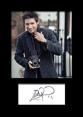EDDIE REDMAYNE #2 A5 Signed Mounted Photo Print (REPRINT) - FREE DELIVERY