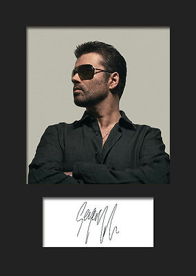 GEORGE MICHAEL #3 A5 Signed Mounted Photo Print - FREE DELIVERY