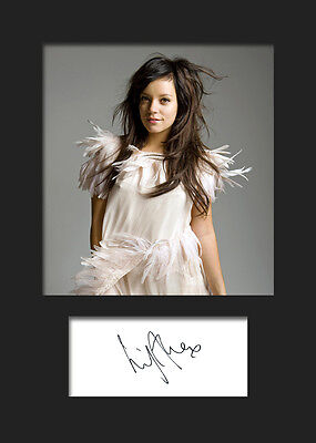 LILY ALLEN #1 A5 Signed Mounted Photo Print - FREE DELIVERY