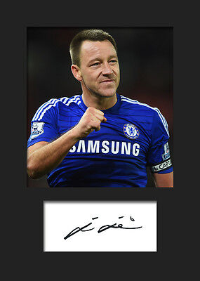 John Terry - Chelsea Signed Photo A5 Mounted Print - FREE DELIVERY