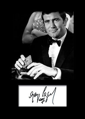 GEORGE LAZENBY #2 A5 Signed Mounted Photo Print (REPRINT) - FREE DELIVERY