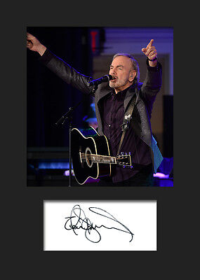 NEIL DIAMOND #2 Signed Photo Print A5 Mounted Photo Print - FREE DELIVERY