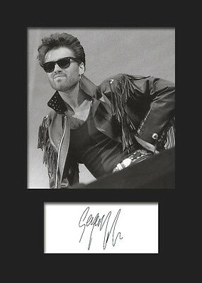 GEORGE MICHAEL #2 A5 Signed Mounted Photo Print - FREE DELIVERY