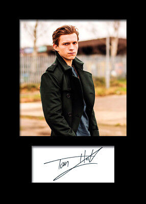 TOM HOLLAND #3 A5 Signed Mounted Photo Print - FREE DELIVERY