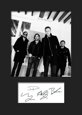 IMAGINE DRAGONS #1 Signed Photo Print A5 Mounted Photo Print - FREE DELIVERY