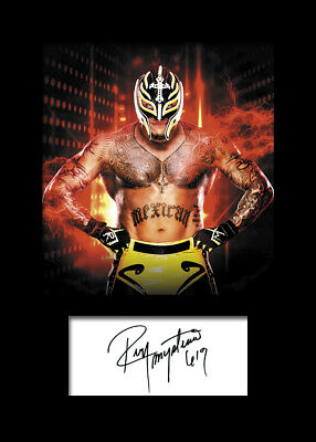 REY MYSTERIO #1 (WWE) Signed Photo A5 Mounted Print - FREE DELIVERY